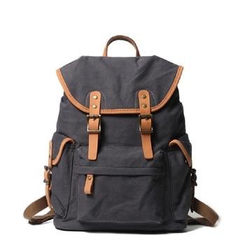M299 Classic Pure Cotton Canvas Backpack Wearresistant Leisure Girl Student Canvas Shoulder Bag Male Leisure Travel Computer Bag