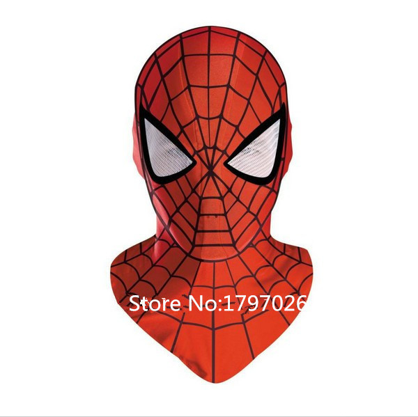 Classic Spider-man costume 3D Printing Superhero Hood mask face,Halloween Spiderman Costume for Women/Men/Kids