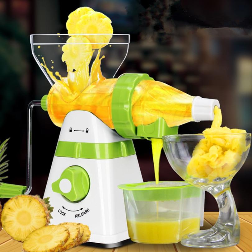 Juicer Manual Hand Orange Slow Juicers Lemon Extractor Machine Blend Fresh Health Juicer Machine Corn Kitchen Tools