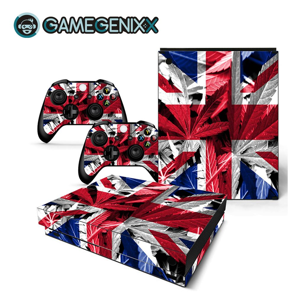 GAMEGENIXX Skin Sticker Protective Decal Removable Cover for Xbox One X Console and 2 Controllers - British Flag(China)