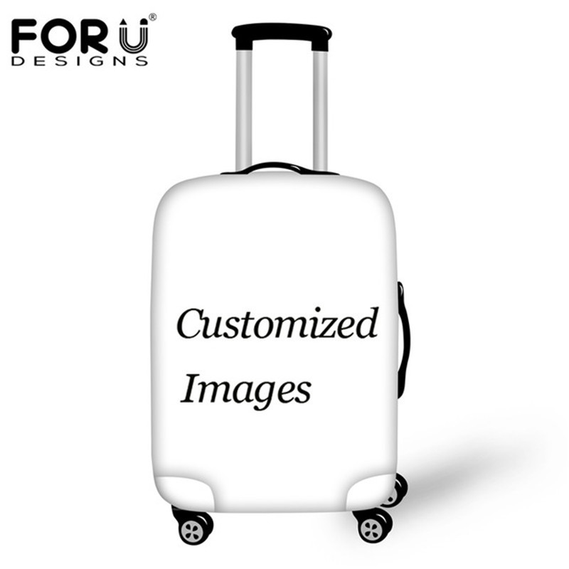 FORUDESIGNS Custom Images Travel Luggage Protective Cover For 18-32 Inch 3D Printing Elastic Thick Suitcase Covers With Zipper