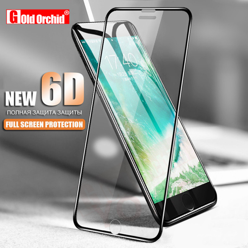 5D Aluminum Alloy Tempered Glass For iPhone 6 6S 7 Plus Full Screen Protector Protective Film For iPhone X 8 5 SE 5s Glass image