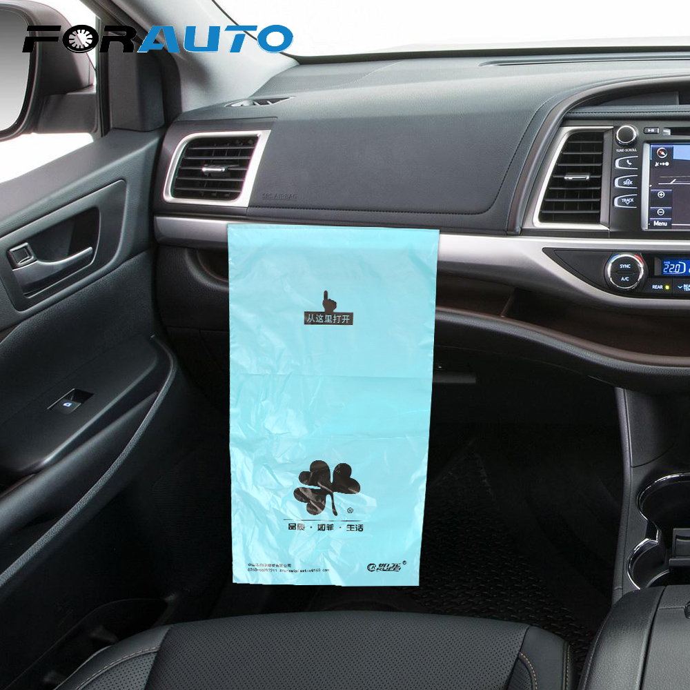 Car Organizer 38*18cm 50 Pcs/Pack Self-adhesive Auto Seat Back Hanging Trash Bin Storage Bag Car Garbage Bag Disposable