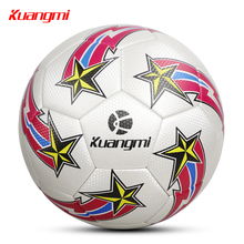 Kuangmi Football Ball Standard Size 5 Professional Adults Soccer Training PVC Wear-Resistant Comfortable futbol football bola