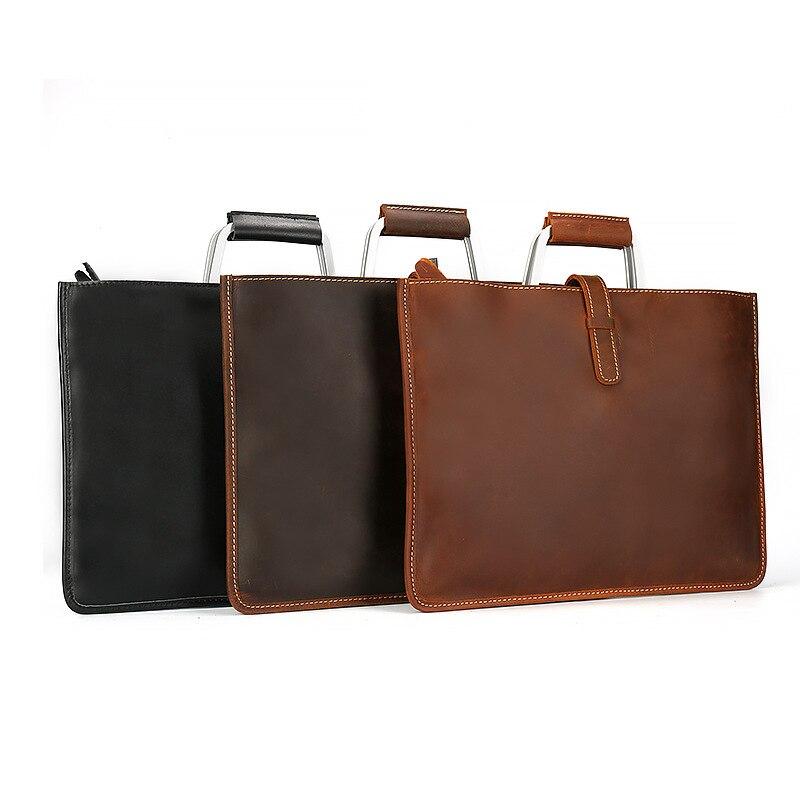 PU cuir vintage hommes dîner en cuir messenger sac sacs d'affaires mâle de haute qualité Crazy horse mallette en cuir pour homme 2019