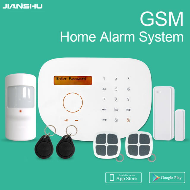 2017 New GSM RFID SMS Alarm System With Cheap Price Wireless Home Security  Alarm System GSM