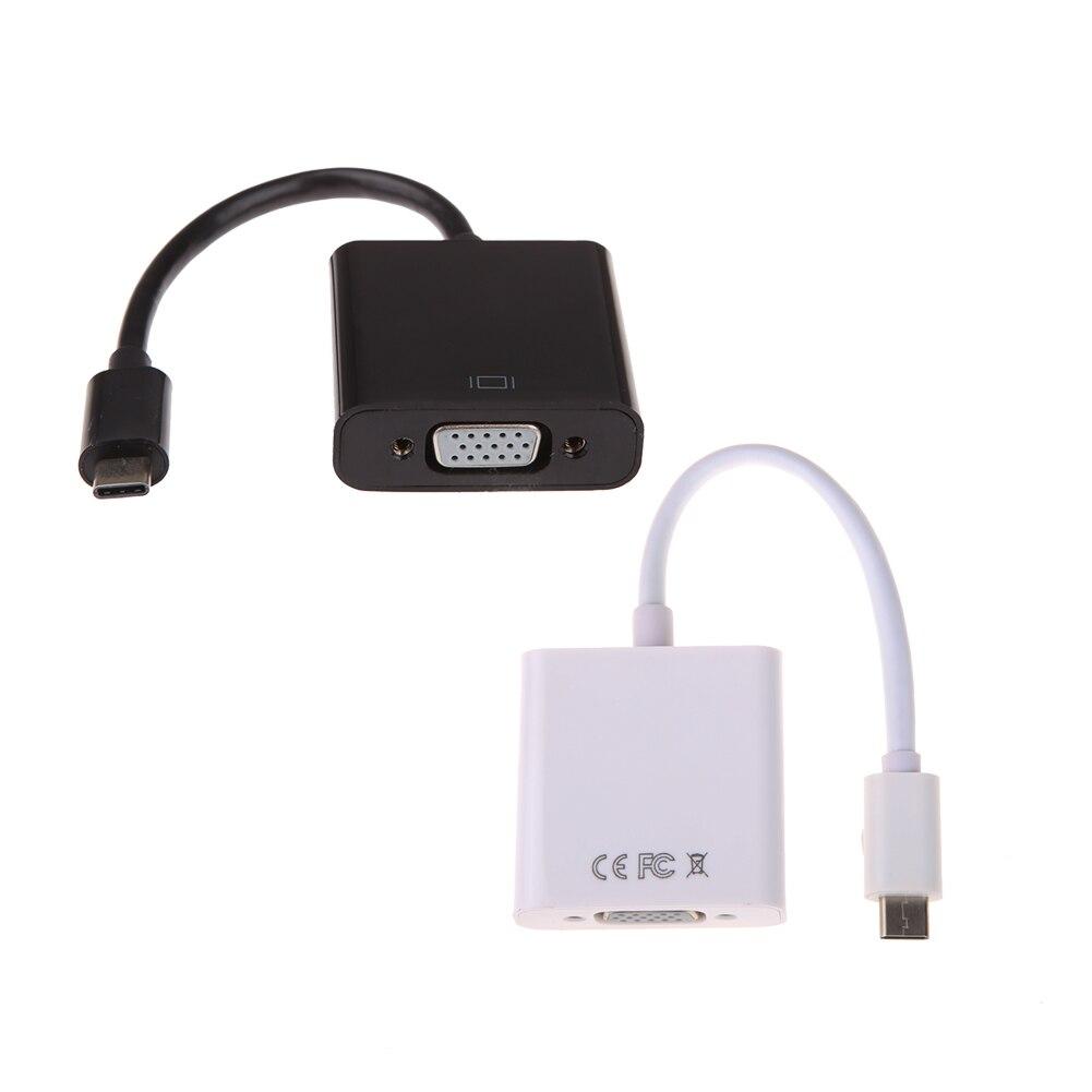 Тип c USB 3.1 мужчин и женщин VGA Кабель-адаптер для Macbook 12 Тетрадь