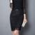 Steampunk Falda Midi Faldas Para Mujer Conjunto de Encaje Negro Faldas Básicas de La Vendimia Larga de Alta Cintura Volantes Faldas Jupe Femme