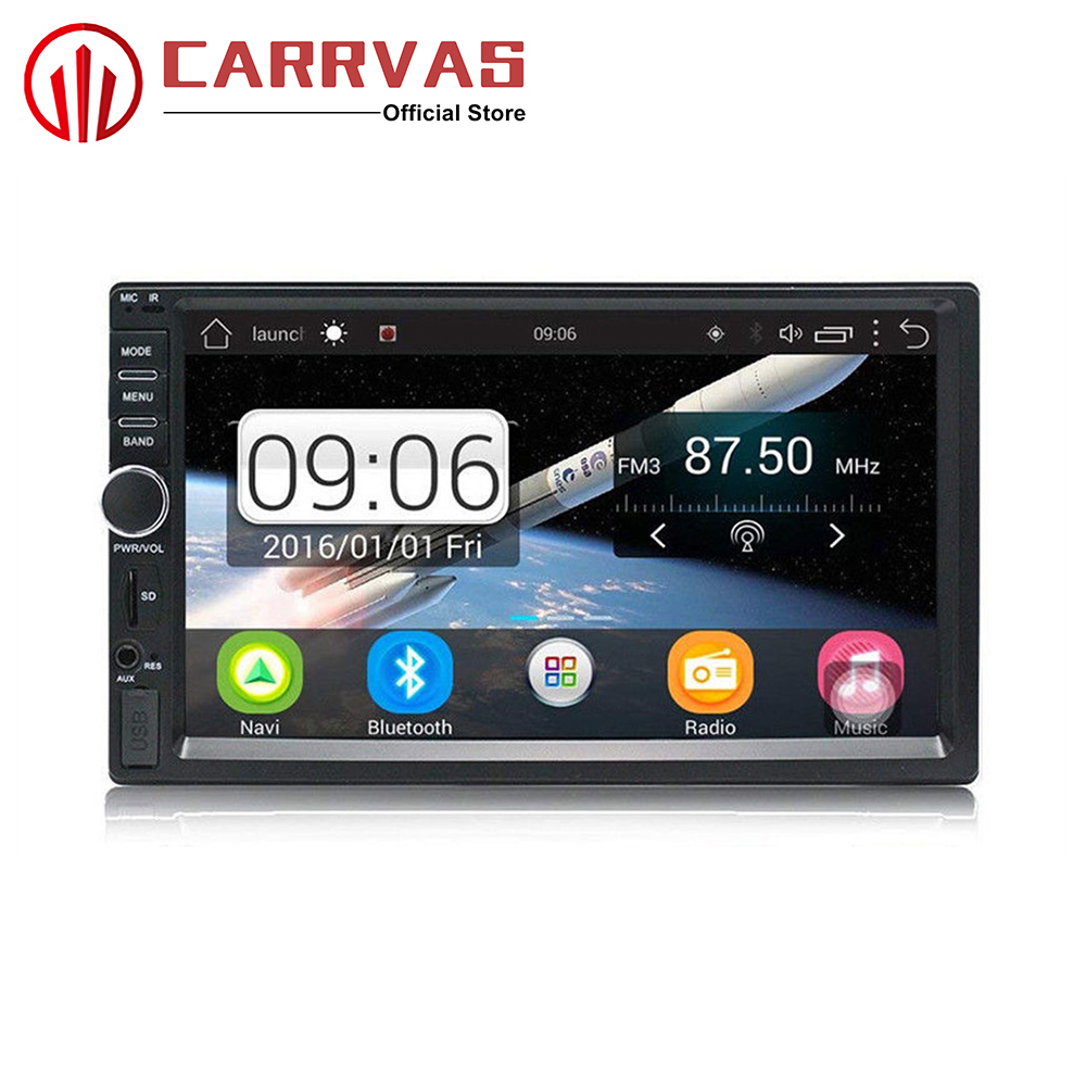CARRVAS Android 2 din GPS Navigator Car Stereo 2 Din 7 inch Support Bluetooth GPS Camera with WIFI GPS Player Car Multimedia