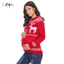 Женский некрасивый Рождественский свитер для беременных оленей пуловер с капюшоном вязаный кардиган на молнии с капюшоном пуловеры для беременных