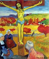 Hand Painted Jesus Christ Oil Paintings Yellow Christ, 1889 by Paul Gauguin Portrait Art High Quality