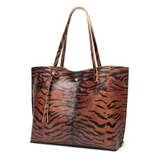 лучшая цена 2019 Leopard Print Women Bag Large capacity Ladies Shoulder bag Casual Shopping Bag Simple Female Handbags Big Women Totes bag