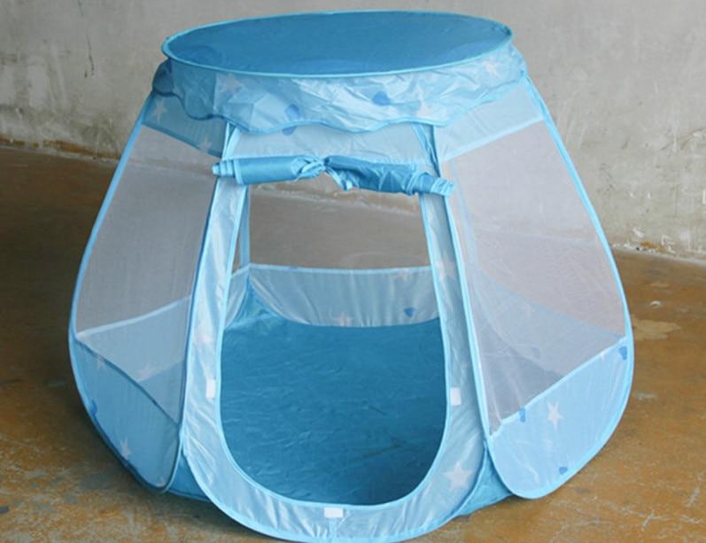 Tente pliable bleue pour enfants enfants jouer maison jouet enfants tentes bébé salle de jeu en plein air amusement Sports tente cadeaux de noël