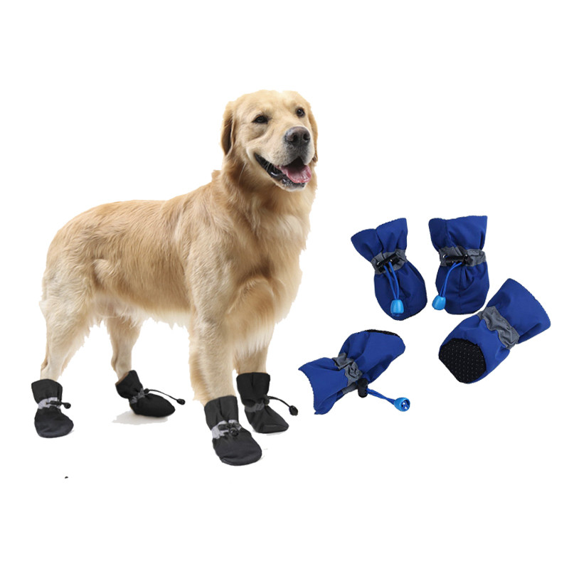 4pcs/set Winter Pet Dog Shoes Anti-slip Rain Snow Boots  Waterproof Footwear  Warm For Small Cats Dogs Puppy Socks Booties Собака