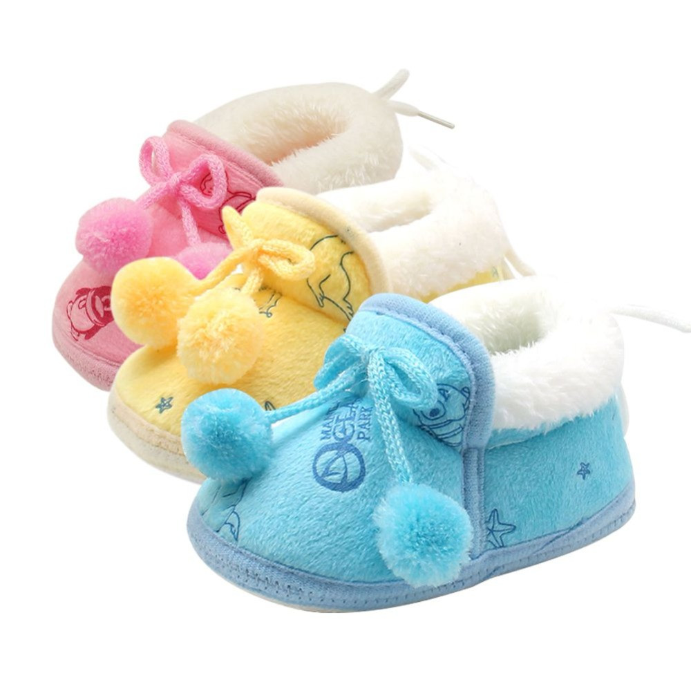 цена WEIXINBUY 2Styles Sweet Newborn Baby Girls Princess Winter Boots First Walkers Soft Soled Infant Toddler Kids Girl Footwear Shoe