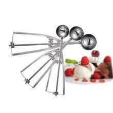 3×4 CM + 5 CM + 6 CM Küche Werkzeug Wassermelone Eis Löffel Kartoffel Scoop Edelstahl löffel Kochen Werkzeuge Küche Zubehör