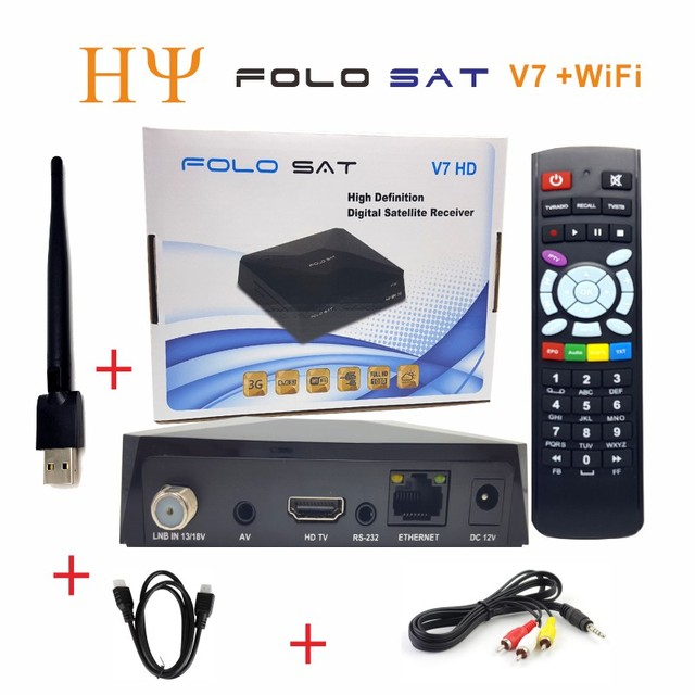 US $122 4 20% OFF| 3PCS/Lot FOLOSAT V7 HD DVB S2 satellite receiver Support  PowerVu Biss Key Stalker/Xtream/m3u Protocal CCCAM NEWCAMD MGCAMD-in