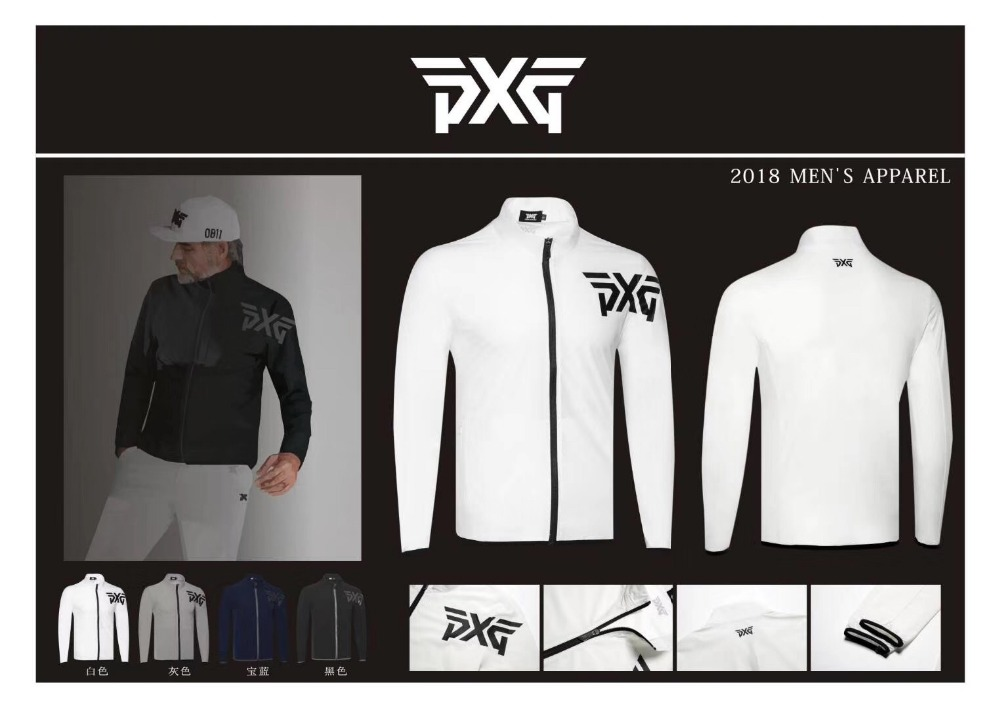 Men's Golf Jacket Zipper PXG Single Layer Thin jacket Outdoor Sports Outwear with male Clothes 4 colors Autumn womens linen casual blazers elegant autumn office business outwear jacket top blazer half sleeve single button slim wear to work