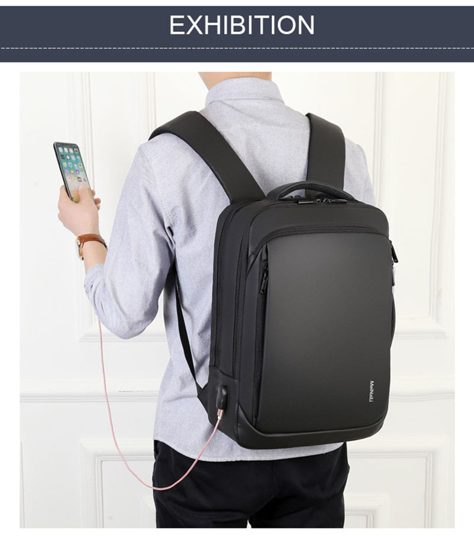17 Inch Laptop Backpack 15.6 Mens Male Backpacks Business Notebook Mochila Waterproof Back Pack USB Charging Bags Travel Bagpack (17)