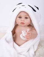 18inch reborn Full silicone babies dolls collectible new arrivals npk bathe doll bb reborn kids birthday Xmas gift bonecas