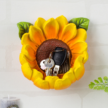 Entrance wall decoration pendant creative restaurant European bedroom 3D flower keys wall storage wall hanging decoration