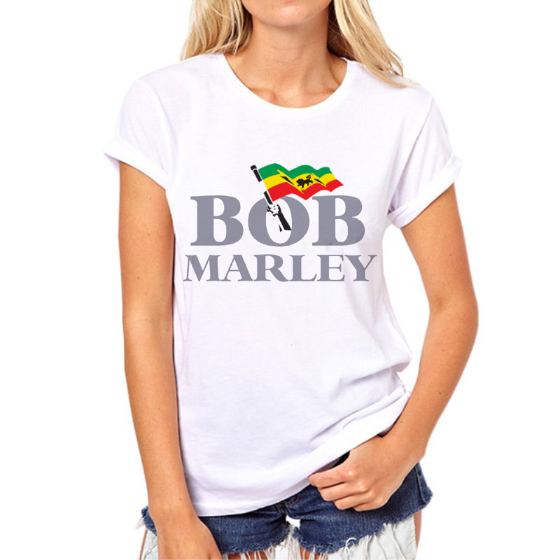 Newest Style Bob Marley Prints Letter t shirts Women Hip Hop Rock Tee Tops t shirts Male Female 3D t shirt 14N-2#