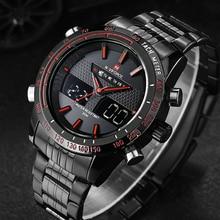Watches Men NAVIFORCE 9024 Luxury Brand Full Steel Quartz Clock LED Watch Army Military Sport Waterproof Watch Relogio Masculino