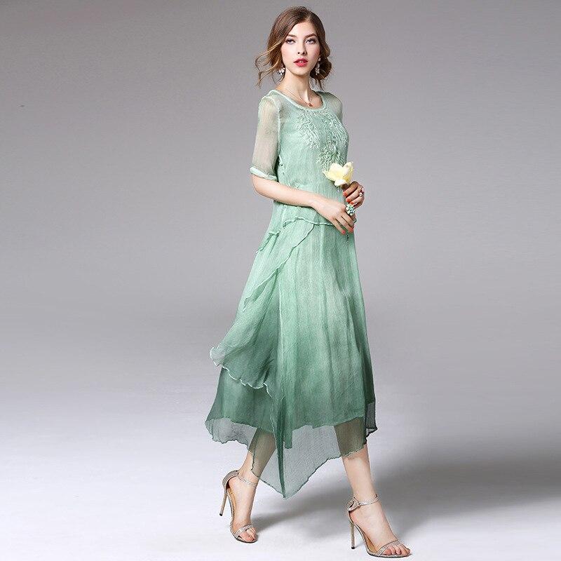 Здесь продается  Ethnic Style Dress Women High Quality Vestido De Festa Vintage Robe Femme Midi Dresses Summer Silk Two Piece Set  2017  Одежда и аксессуары
