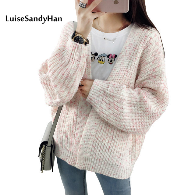 2017 Female Cardigan  Autumn And Winter Warm Women Sweater Long Sleeve Casual Sweater Knitted Tops