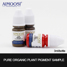 3ml X 3 bottles Aimoosi Lip&Eyebrow Pigment samples for Permanent makeup Tattoo Microblading eyebrow,lips eyelines tattoo ink free shipping 6 bottles aimoosi eyebrow munsu beauty makeup pigment 15ml bottles permanent tattoo makeup ink goochie quality