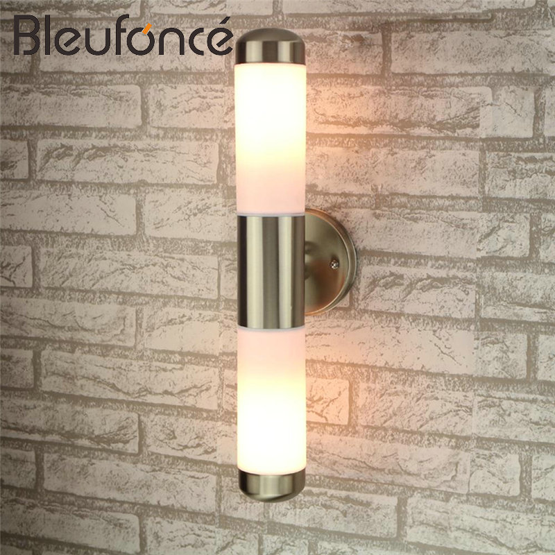 Outdoor Waterproof LED Wall Lamp Double head E27 LED Garden Lights stainless steel Sconce Waterproof Outdoor Wall Lamps BL88 free shipping vintage wall lamps garden lighting terrace wall sconce outdoor wall lights mediterranean bedroom wall lamp