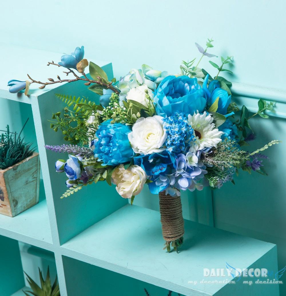 Big Size New Beautiful Handmade Artificial Flowers Bouquet For