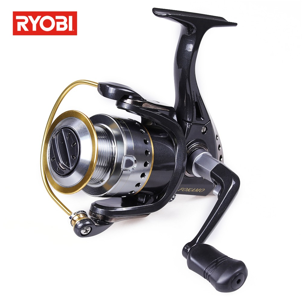 RYOBI FOKAMO Fishing Reel with Extra Spool Coil Fishing Gear Ratio 5.1:1 /5.2:1 l Metal Body Reel Fishing spinning reel fishing kastking kodiak 2016 hot sale 2000 5000 series aluminum spool superior ratio 5 2 1 spinning fishing reel spinning reel
