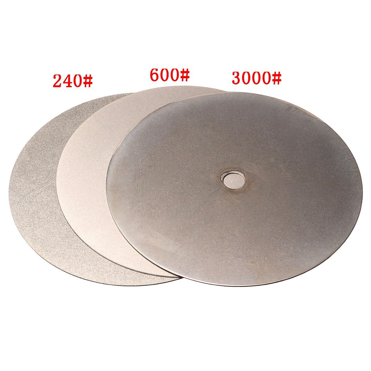 3Pcs 150mm 6 Inch Diamond Grinding Wheel Grit 240# 600# 3000# Flat Lap Disk Wheel Grinding Pad Tool Power Tool Accessories