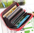 Fashion  GENUINE LEAHTER Fashion zipper credit name card holder wallet promotion gifts CCBB8