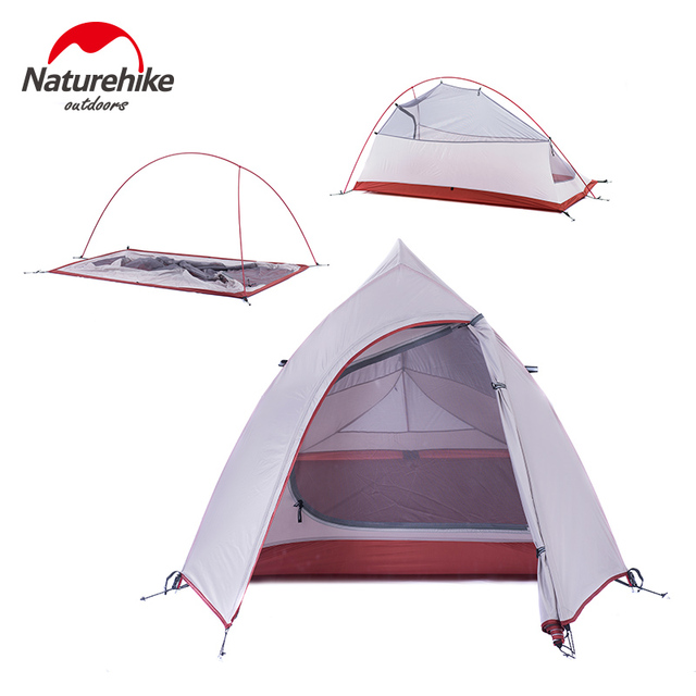NatureHike 2 Man Lightweight Camping Tent Outdoor Hiking Backpacking Cycling Ultralight Waterproof 2 Person Camp Tent