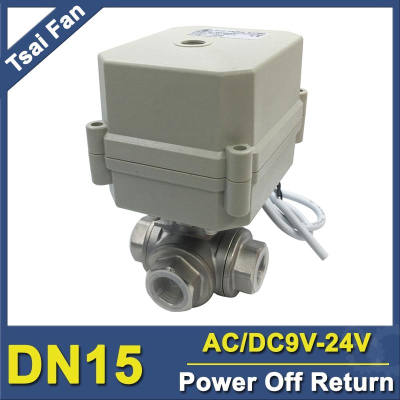TF15-S3-C 3 Way BSP/NPT 1/2'' DN15 Power Failure Return Valve T/L Port AC/DC9-24V Can Replace Solenoid valve IP67/CE цена
