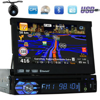 7 inch in dash 1din car dvd player Wince Free camera/map auto stereo GPS Navigation audio radio 1 din Bluetooth automotive DVD