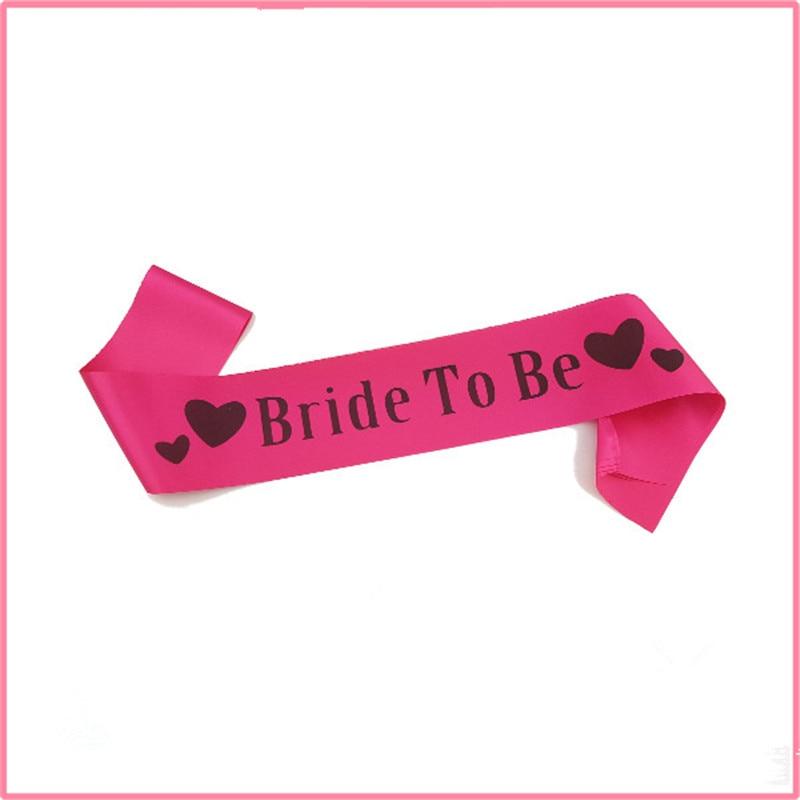 Pink bride to be letter sash shoulder strap accessory lady for Shoulder decoration 9 letters
