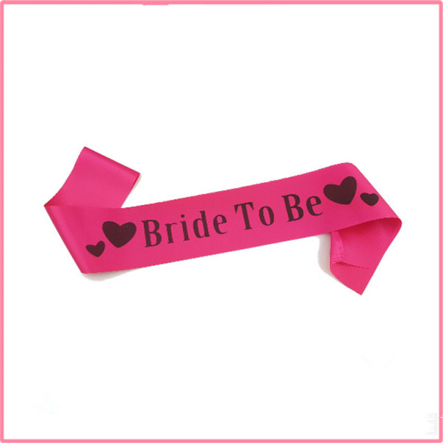 Pink Bride To Be Letter Sash Shoulder Strap Accessory Lady Hen Party