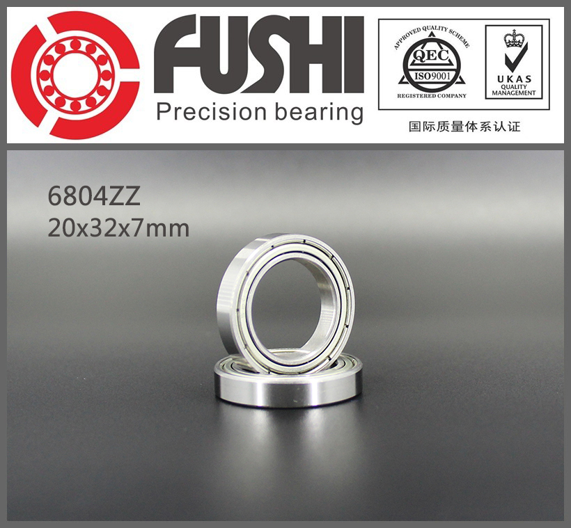 6804ZZ Ball Bearing ABEC-1 (10PCS) 20x32x7 mm Thin Section 6804 ZZ Bearings 6804 2Z 6804Z 1pcs 71901 71901cd p4 7901 12x24x6 mochu thin walled miniature angular contact bearings speed spindle bearings cnc abec 7