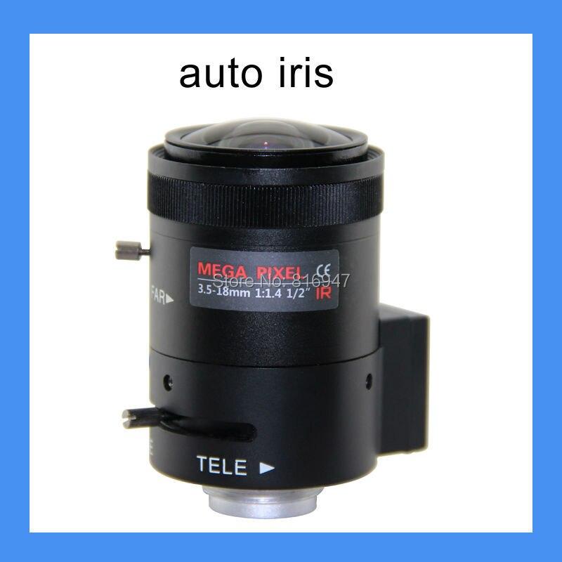 Free shipping CCTV lens 3.5-18mm F1.4 1/2