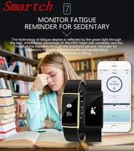 Smartch Новинка 2017 года Smart Band N108 OLED Экран IP67 Водонепроницаемый монитор сердечного ритма крови Давление умный браслет вызова/SMS напоминание