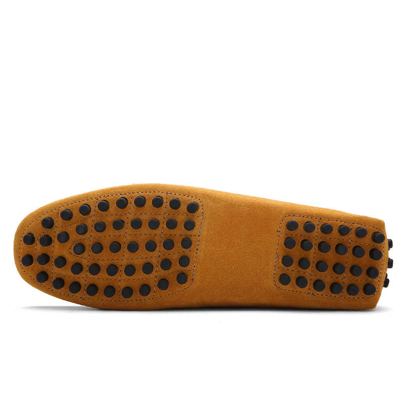 Inek Süet deri erkek ayakkabısı Daireler Rahat erkek mokasen ayakkabıları Sürüş Nefes Ayakkabı Moda hafif moccasins 2019 Lüks Marka