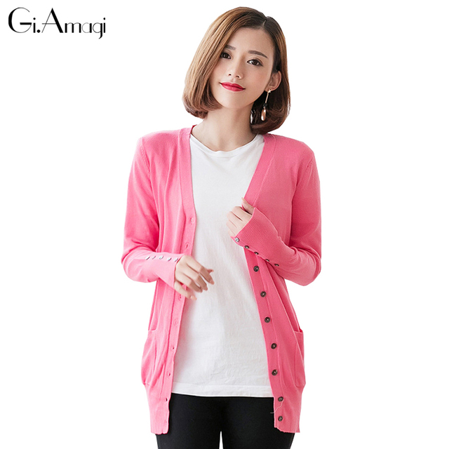 3c1c3dd5ec Fashion Cardigan Sweater Women Outwear 2017 Chic Lady Spring Knitted  Cardigans Tops Quality Casual Cashmere Sweaters