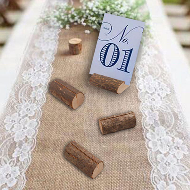 10pcs No Printing Engraved Solid Wood Cute Memo Pincer Clips Paper Photo Clip Holder Wooden Small Clamps Stand Desk Gadget in Figurines Miniatures from Home Garden
