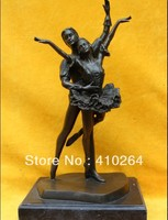 ] Shipping Express 14 Marble Base Art Bronze Western Girl Man & Boy Lady Dance Play Ballet Statue