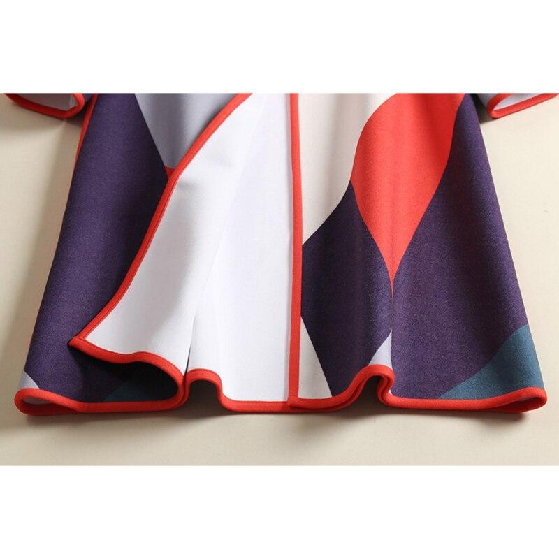 여자 패션 컬러 블록 인쇄 양모 코트 겨울 긴 캐주얼 느슨한 작업 O 넥 블랜드 모직 코트 하이 엔드-에서울 & 블렌드부터 여성 의류 의  그룹 3