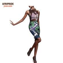 2018 summer 2-pieces skirt set for women AFRIPRIDE sleeveless tank top+above knee length bodycon cotton A1826017