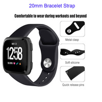 galaxy s4 20mm Bracelet Strap For Xiaomi Huami Amazfit Bip Metal Watch Band For Samsung Galaxy Watch Active S2 S4 Silicone Pulsera Correa (4)